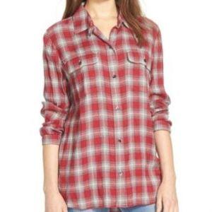 Madewell Flannel Button Down LS Shirt Sz M